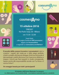 CosmesiAmo- save the date: 15 ottobre a Milano